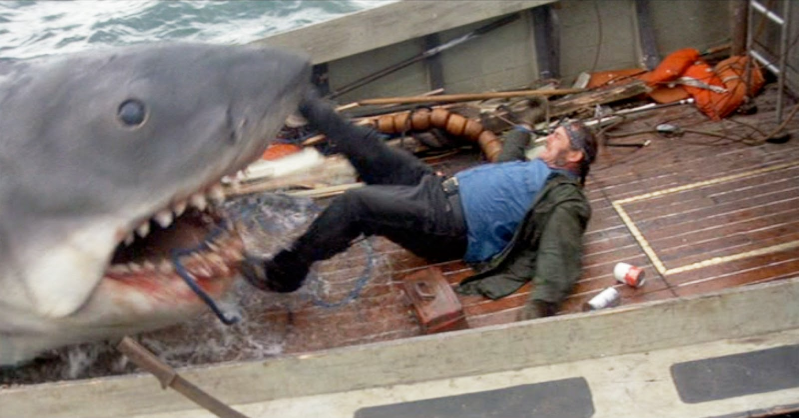 Terror in the movie jaws